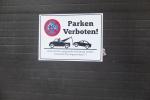 Parken verboten auf deutsch